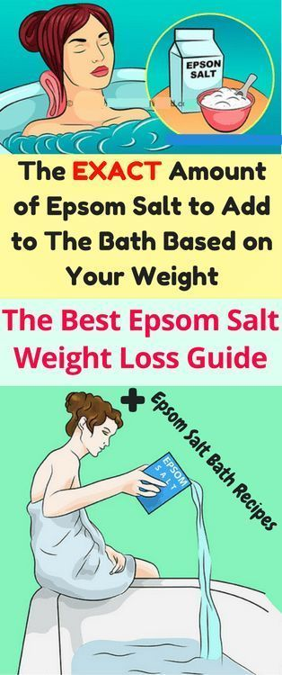 The Exact Amount Of Epsom Salts You Should Be Adding To Your Bath Based On Your Weight!!!  #lifestyl...
