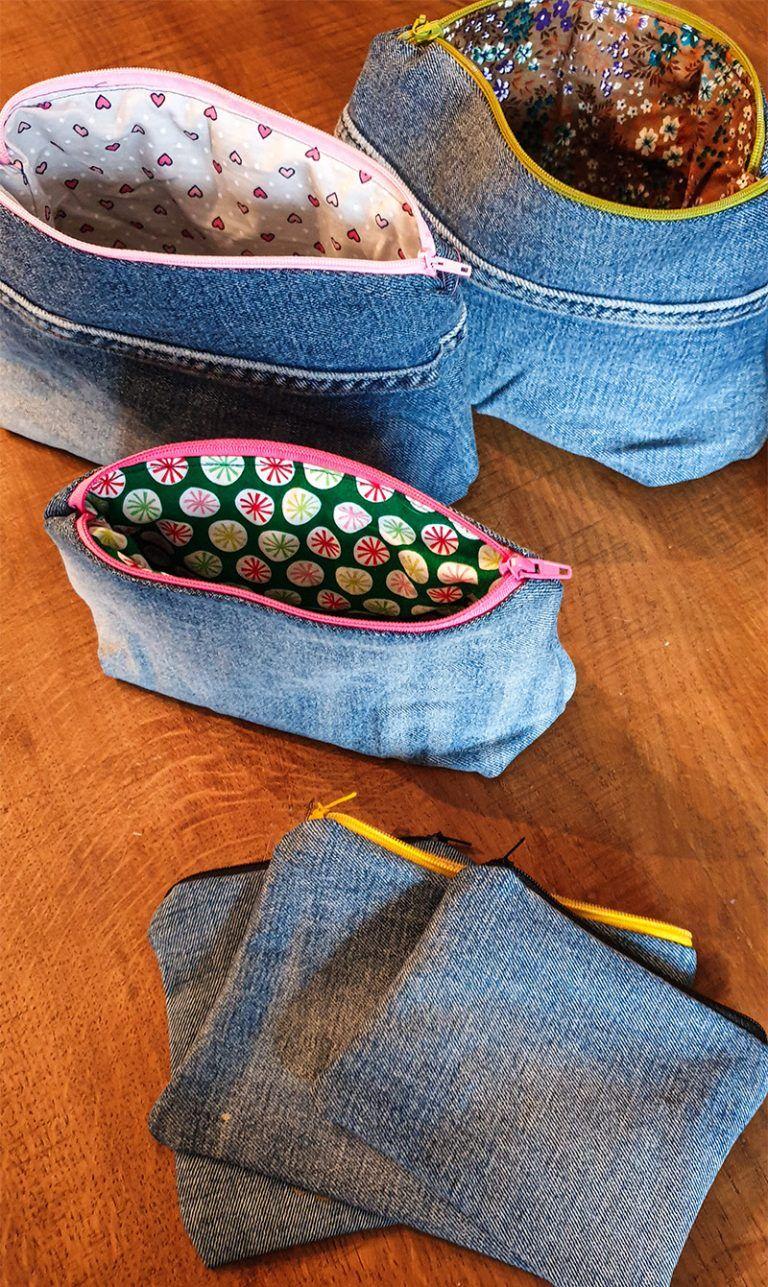 Jeans Upcycling - Taschen nähen aus alter Jeans Nähanleitung