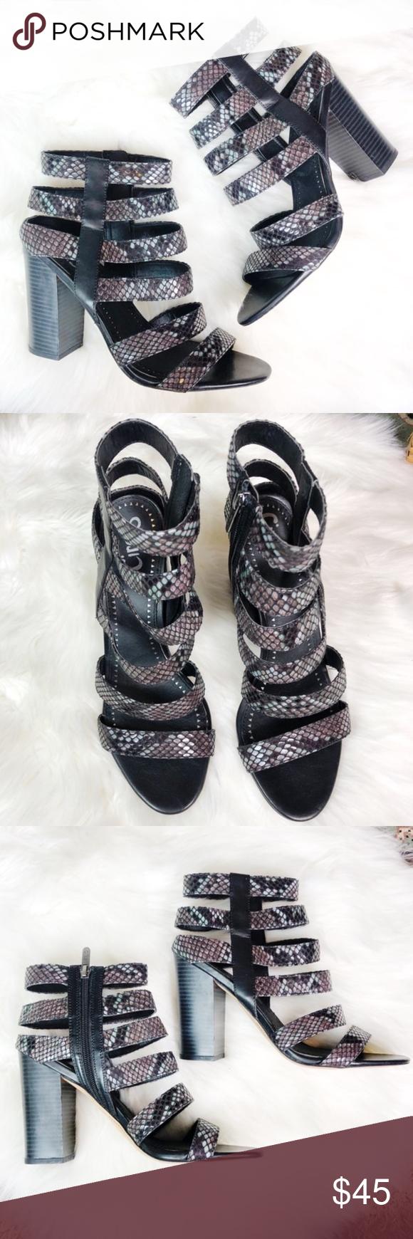71ad286e1 Circus Sam Edelman Neva Snake Caged Booties Heels Gorgeous heels by Circus  by Sam Edelman in