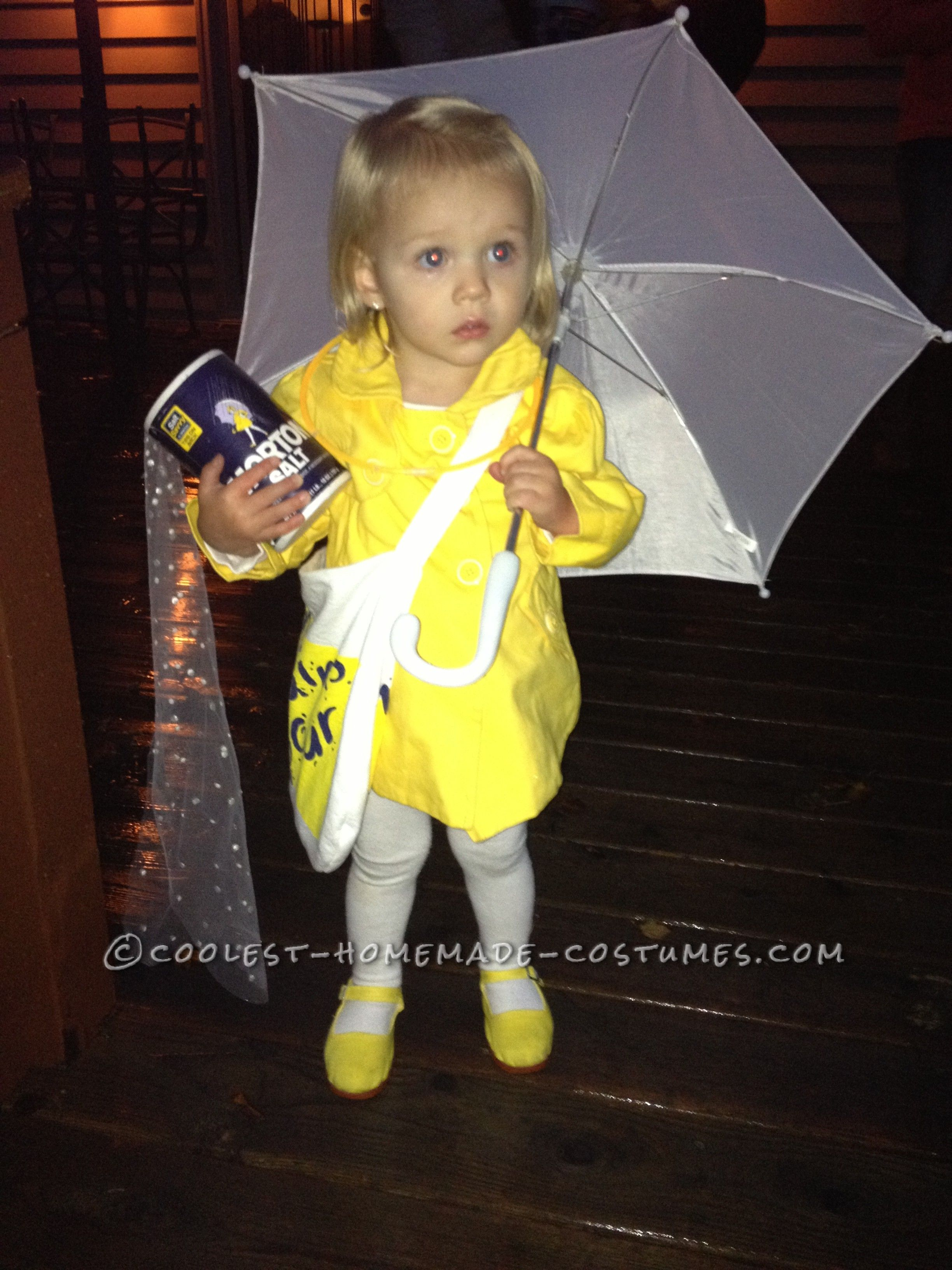 Cutest little morton salt girl halloween toddler costume for Cool halloween costumes for kids girls