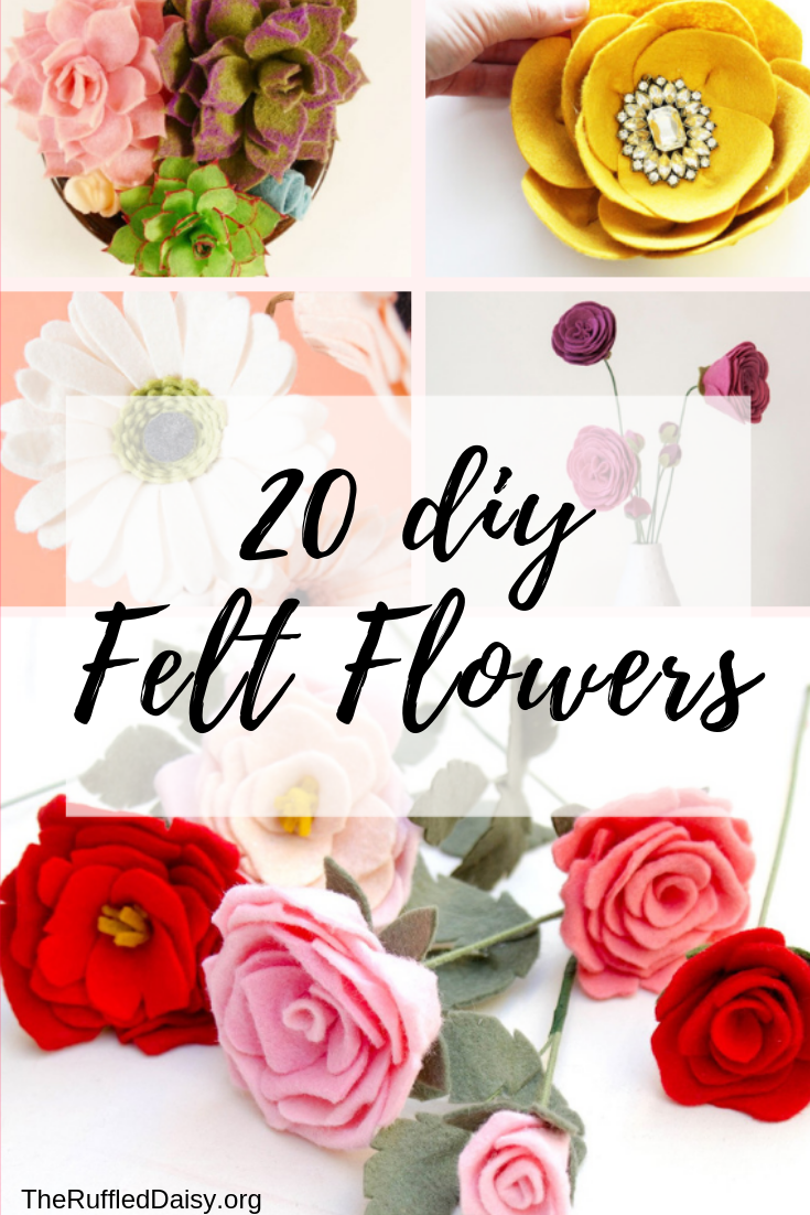 20 DIY Felt Flowers -
