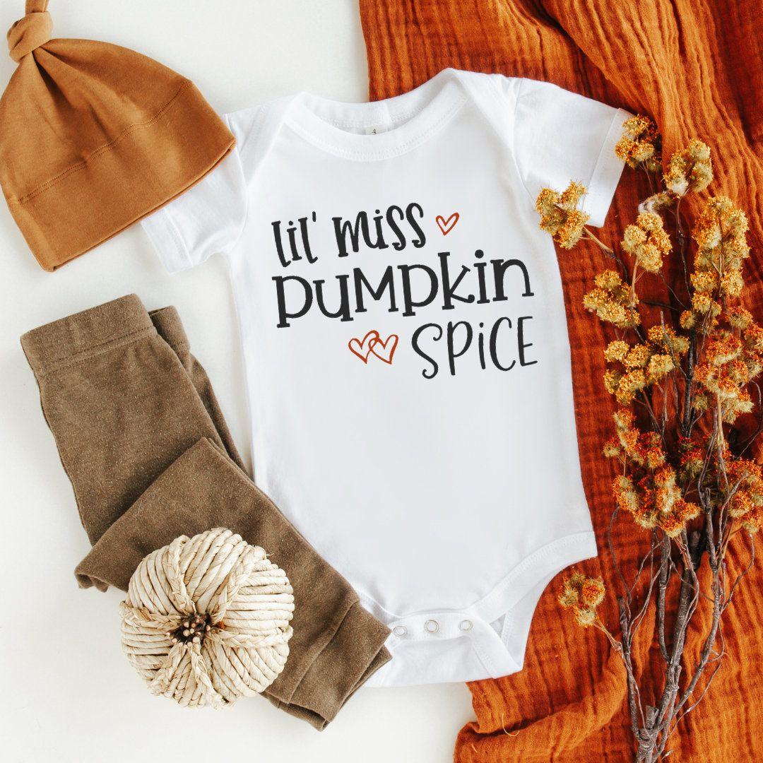 Lil Miss Pumpkin Spice Fall Baby BodysuitOnesie