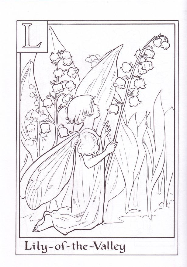 fairy alphabet coloring pages download and print for free - Coloring Pages Fairies Flowers