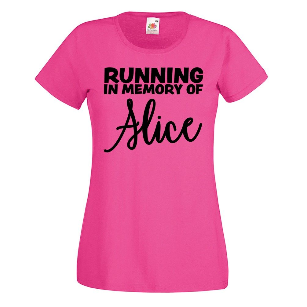 Ladies 5K No Quitter T Shirt Funny Charity Run Race Pink Mummy Running For Life