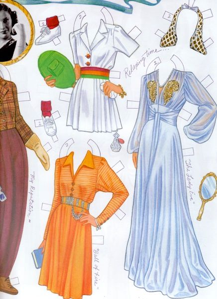 BARBARA STANWYCK Paper Doll by Marilyn Henry <> 1995, Shackman, out of print, larger size book measures about 10 x 12 inches. Marilyn Henry's love of movies, sharp eye and knowledge of costume come through in her fine illustrations of our favorite old-time movie stars. 3 of 4
