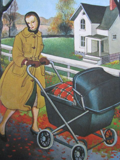 Eloise Wilkin - Mommy has a carriage for her baby Looks like the baby carriages my mom used.