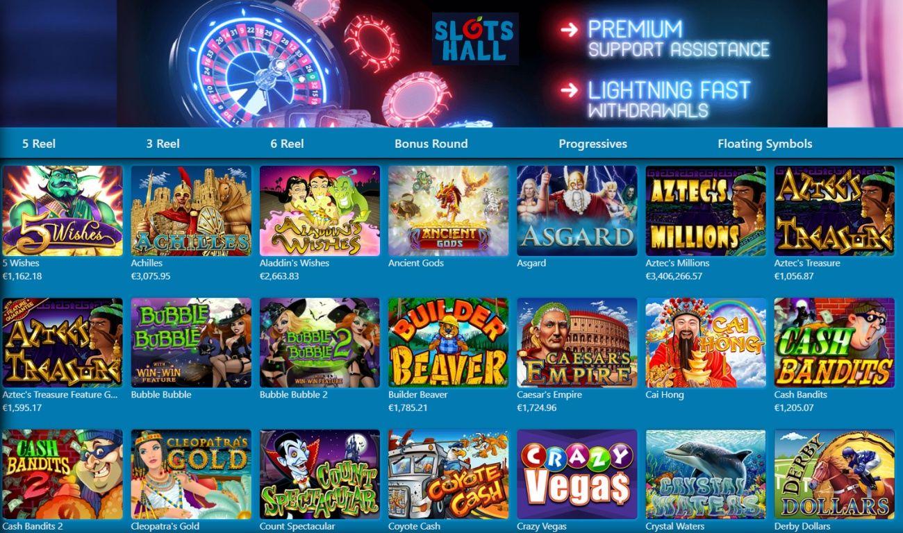 Slotshall Casino Bonus Codes