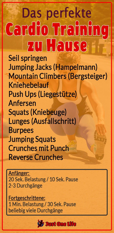10 Übungen für das perfekte Cardio Training zuhause #cardioyoga