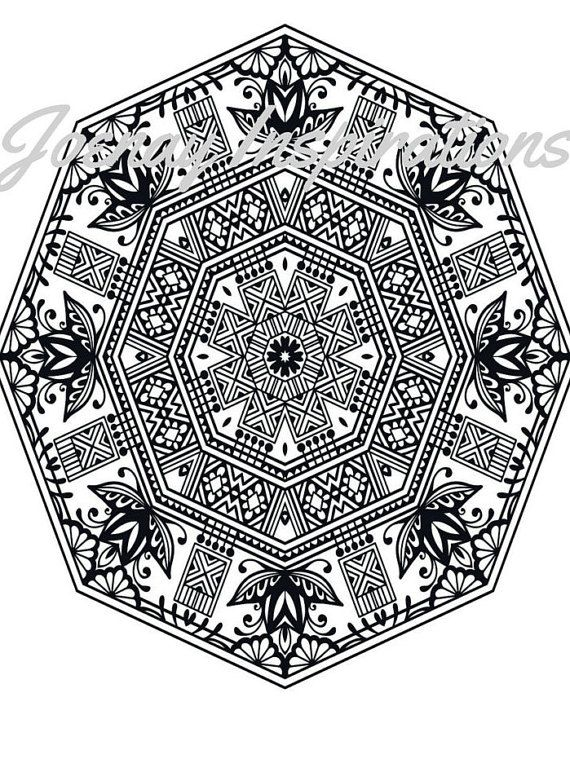 Adult Coloring Book Printable Pages For Adults Instant Download Magnificent Mandalas 3 Page 10