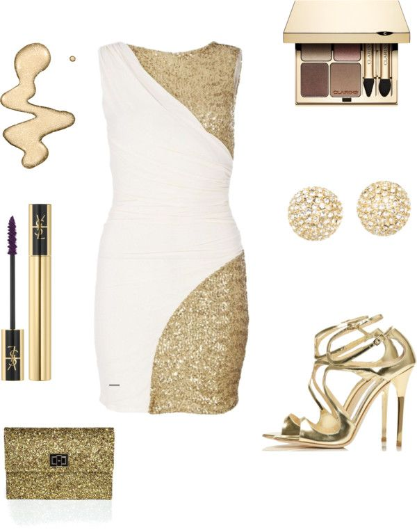 """""""Gold Sparkle"""" by iamsmiley on Polyvore"""