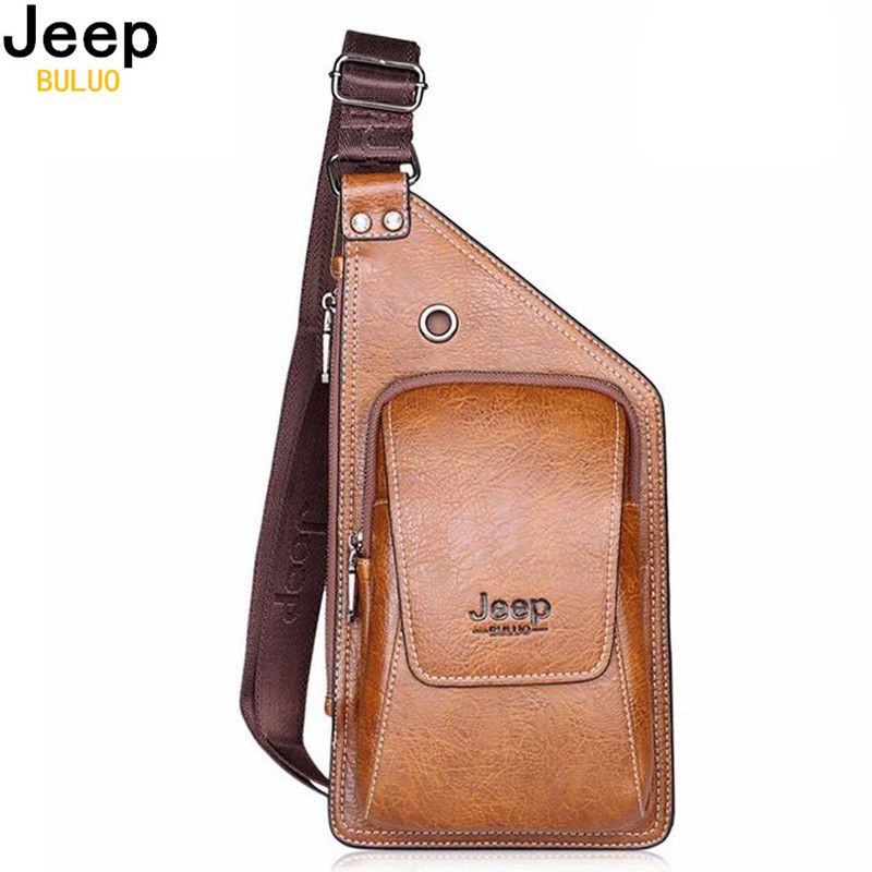 518f99db69 JEEP BULUO Summer Bag Men Chest Pack Single Shoulder Strap Back Bags ...