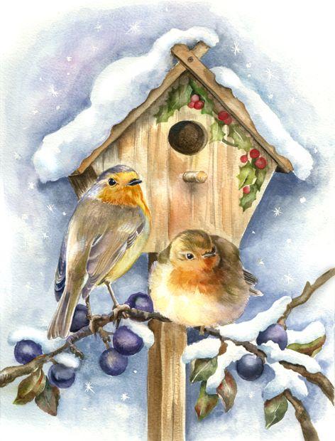 Écureuil birdhouse personnalisé carte de noël