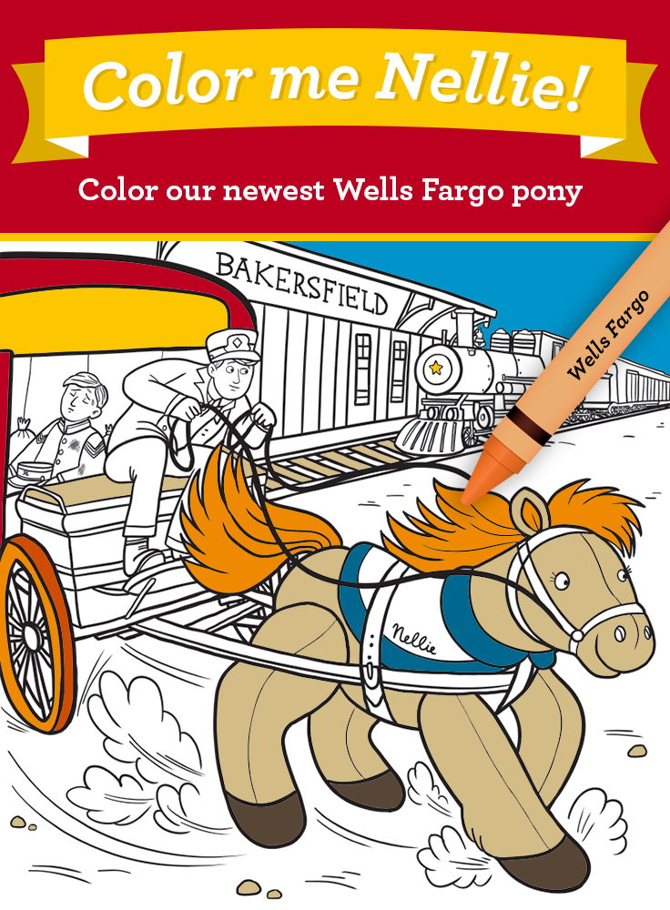 Download the coloring page for our 2015 plush pony, Nellie  She