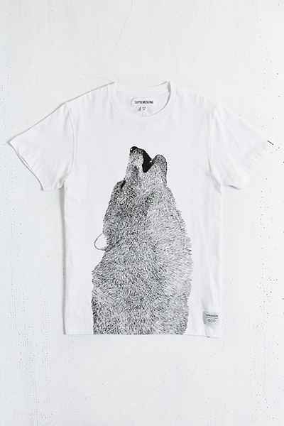 75c8e040d Pieced Wolf + Forest Tee | To buy | Graphic tee shirts, Urban ...
