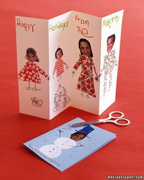 Tarjetas Para Felicitar La Navidad Hechas En Casa Navidad Con - Postales-para-navidad-personalizadas