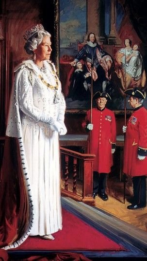 Dream-art Oil painting of a young H.R.H Queen Elizabeth II of Great Britain art