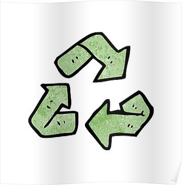 Cartoon Recycling Symbol Sticker By Octoberarts Pinterest