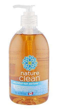 Nature Clean All Natural Liquid Soap Scent Free Soap
