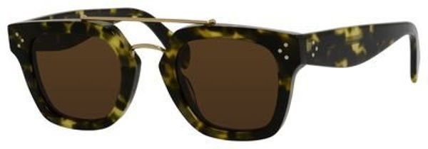 55dd14df6e0e eBay  Sponsored Celine 41077S Sunglass-0PHW Havana Green (A6 Brown  Lens)-47mm