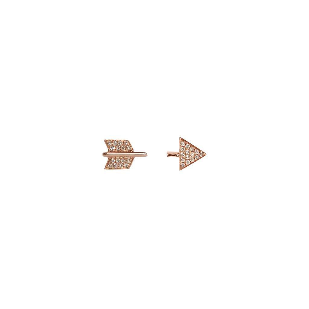 Established 18K Gold Broken Arrow Diamond Stud Earrings Jgcn1NoE