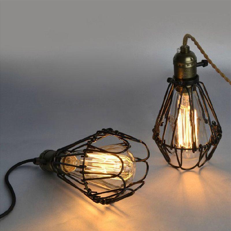 FRLED Mode Vintage Draht Lampe Käfig DIY Lampenschirm Industrielle ...