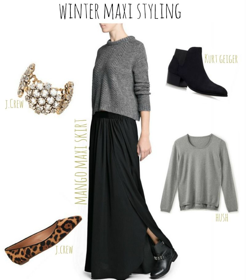 What winter shoes to wear with maxi dresses