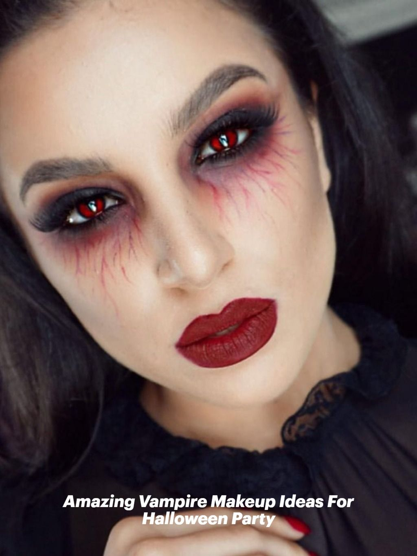 Vampire Halloween Makeup 2020 Amazing Vampire Makeup Ideas For Halloween Party in 2020   Vampire