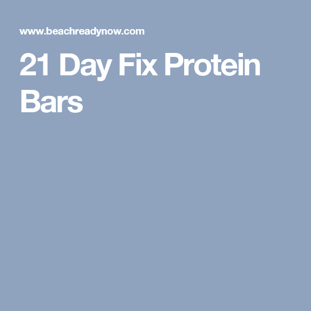 21 Day Fix Protein Bars