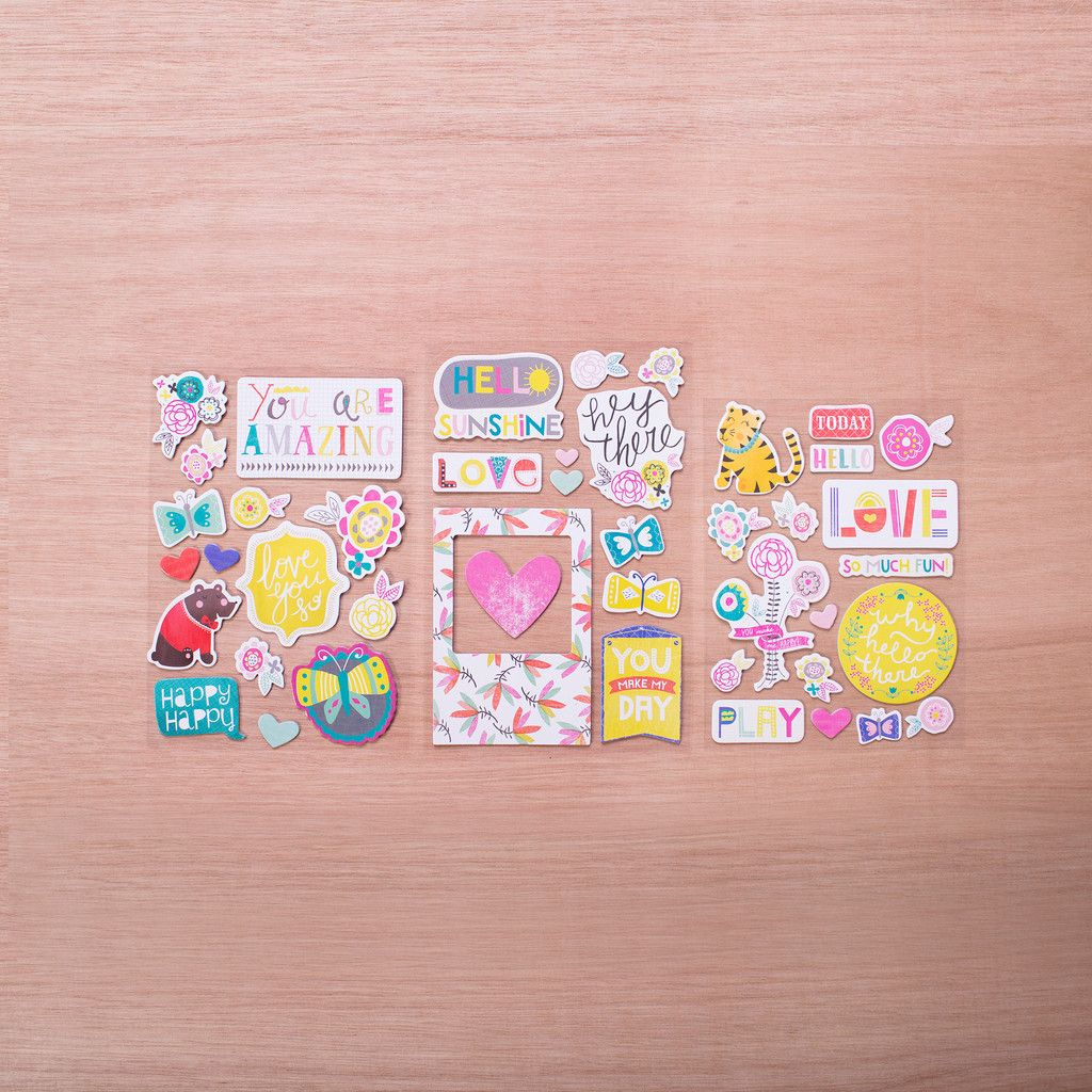 Playful Edition Chipboard Stickers $4.99