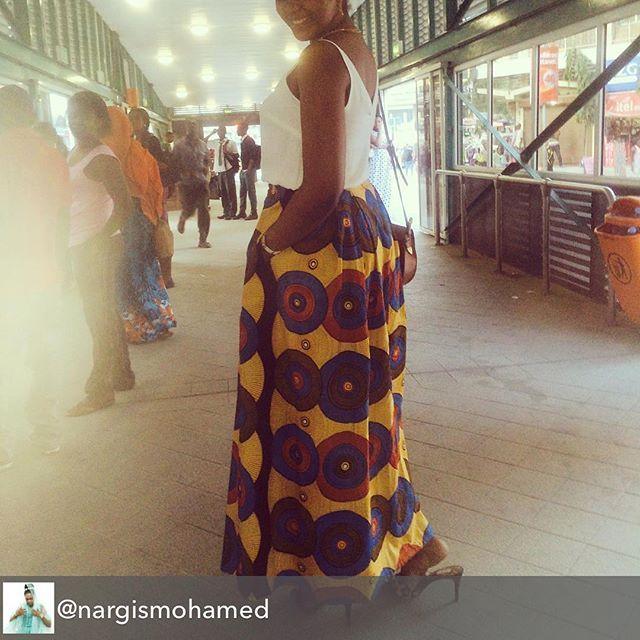 Repost from @nargismohamed using - AM BACK! Top @fashoonista kitenge @Afrocouture  #mwendokasi