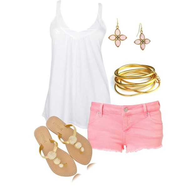 """Pink Pop"" by sarahtcole on Polyvore"