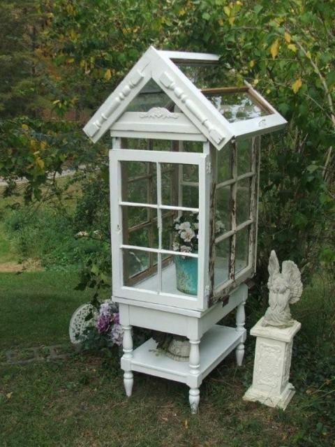 mini greenhouse out of windows dornr schengarten. Black Bedroom Furniture Sets. Home Design Ideas