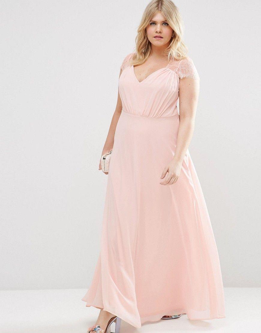 Image 4 of ASOS CURVE Kate Lace Maxi Dress | Bridesmaids dress ...