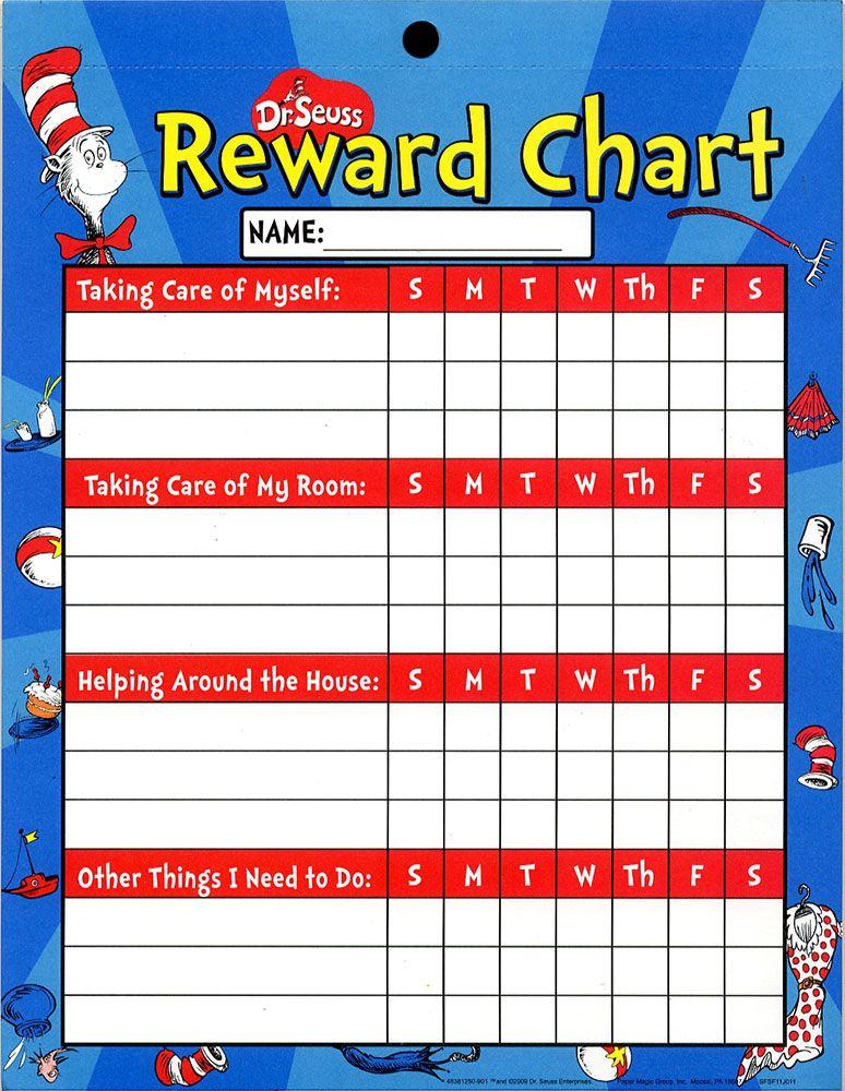 Cat in the Hat Reward Charts, classroom decor, classroom - free reward charts to download