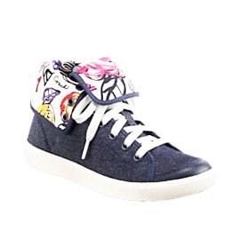 99.99$  Buy now - http://vinve.justgood.pw/vig/item.php?t=pz8mq957722 - Coach Erikka Denim Blue High Top Poppy Flap Sneaker Tennis Shoes 9.5