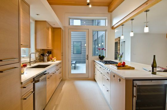 Pinthe Rustic Kitchens On Modern Kitchens  Pinterest  Narrow Captivating Long Narrow Kitchen Design Review