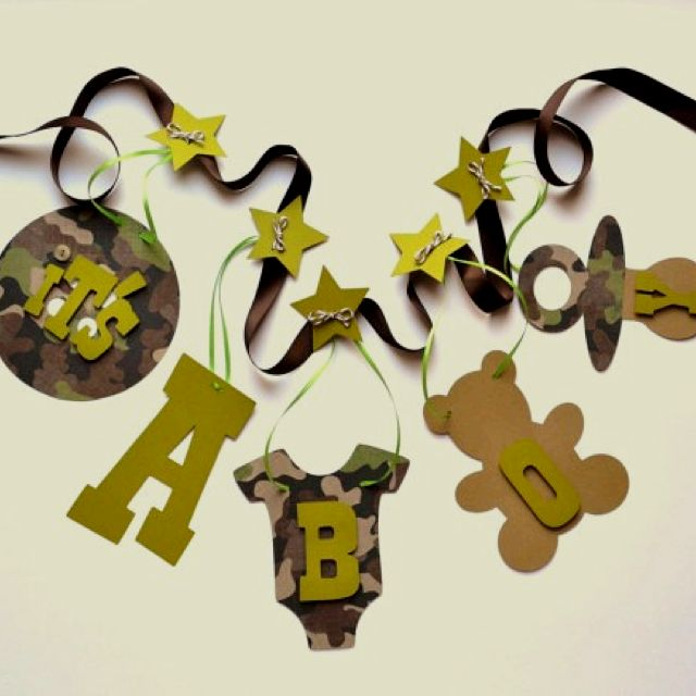 Image detail for -Camo baby shower decorations Itu0027s a boy banner by ParkersPrints on . & Baby shower decor ideas. Minus the camo :) | Baby Shower | Pinterest ...