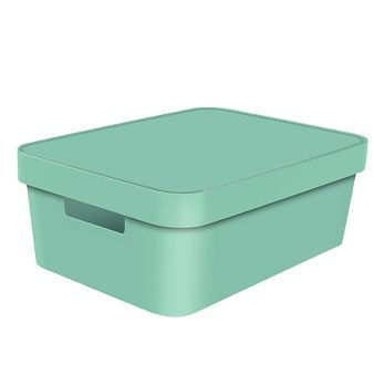 Decorative Medium Bin   Solid Mint   Room Essentials™