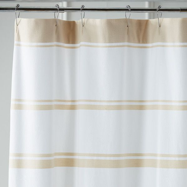 Pier 1 Imports Tan Striped Shower Curtain 60 Liked On