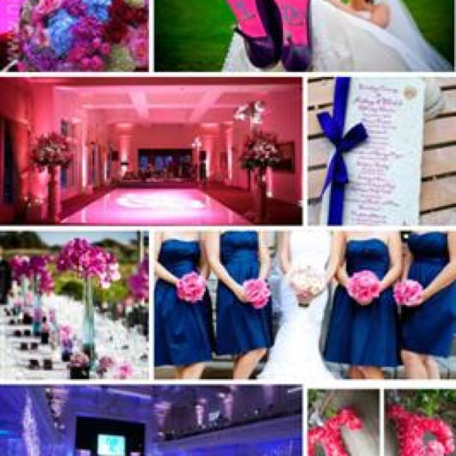 Color Scheme I Like The Best Pink And Royal Blue Wedding Colors