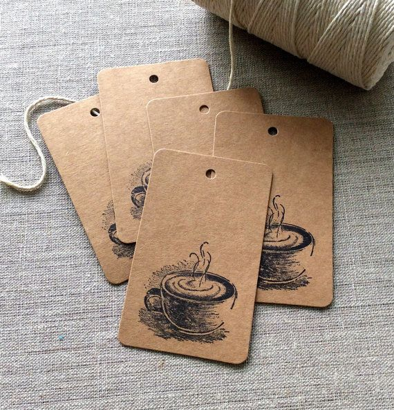 20 Coffee Gift tags cappuccino gift tags coffee by BethAndOlivia