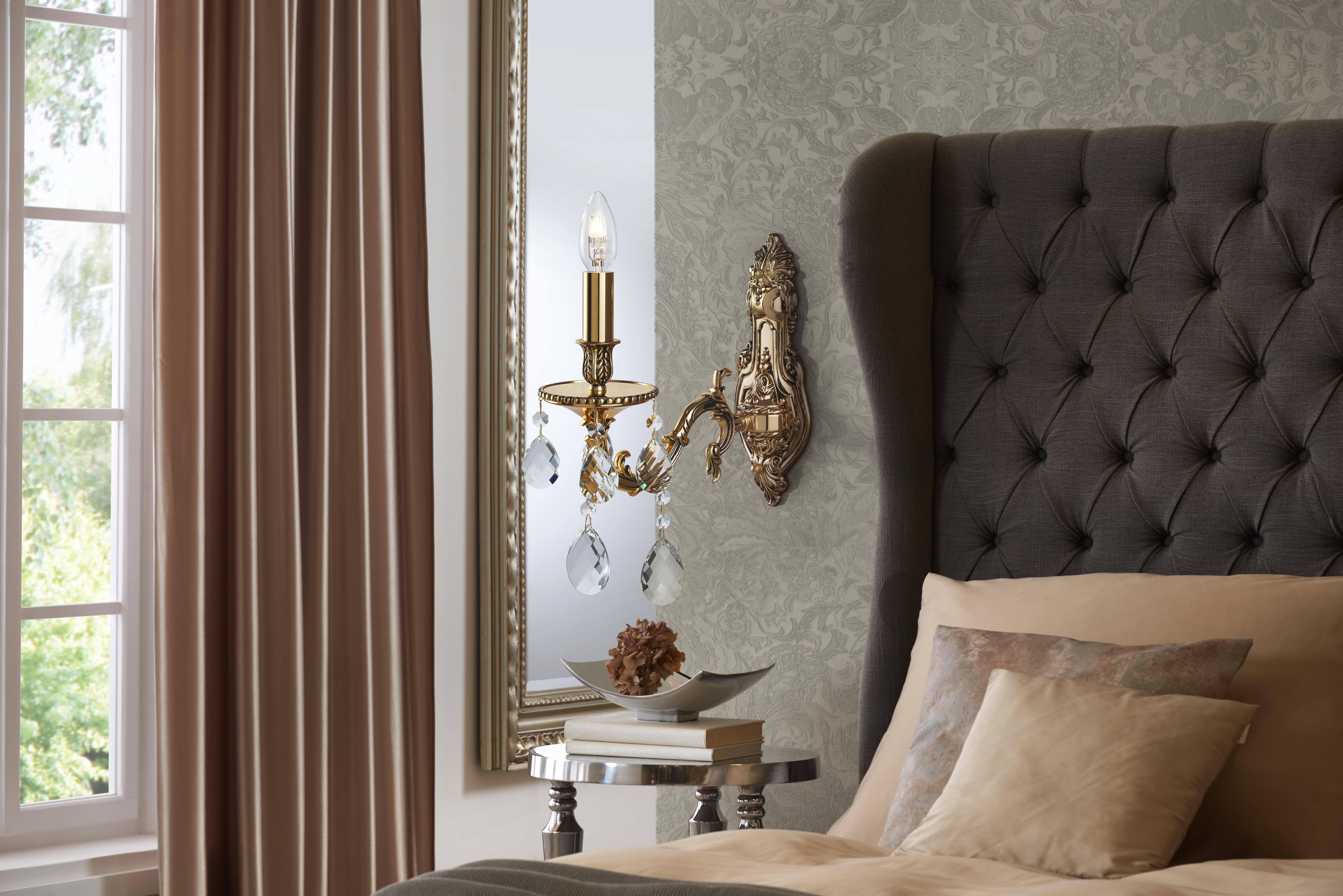 Extravagante Glanzstücke in Gold lassen dein Schlafzimmer