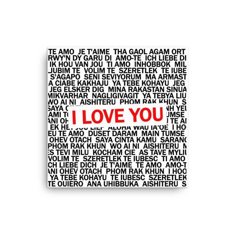 I Love You Canvas 12 x 12 | SHOP - SURVIVING THE DISTANCE