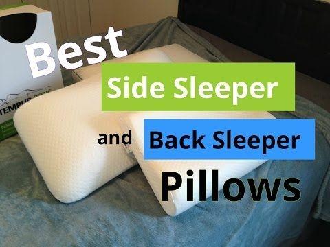 Best Side Sleeper And Back Sleeper Pillows Youtube Side Sleeping Pillow Best Pillow Side Sleeper
