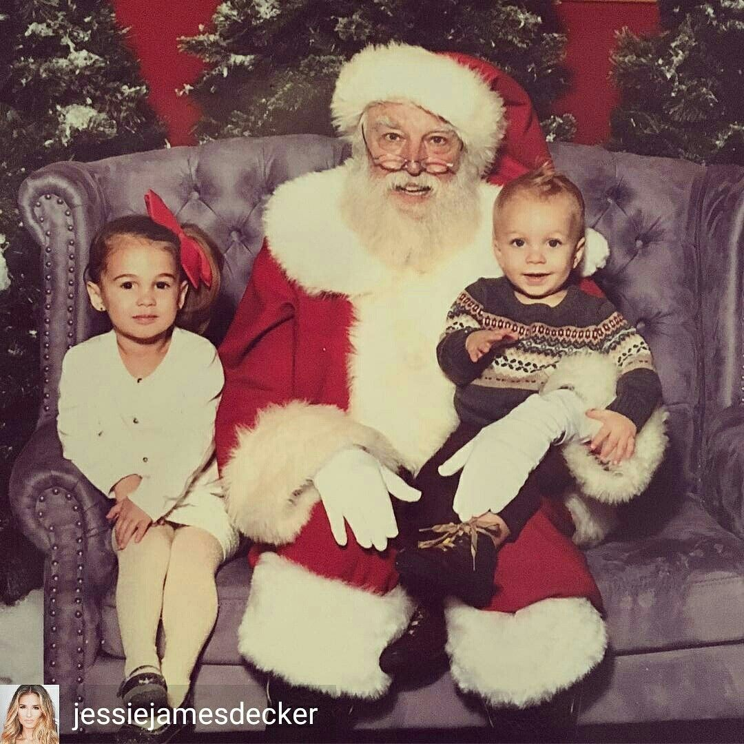 Christmas picture with Santa 2016. Thats as close to Santa Vivi ...