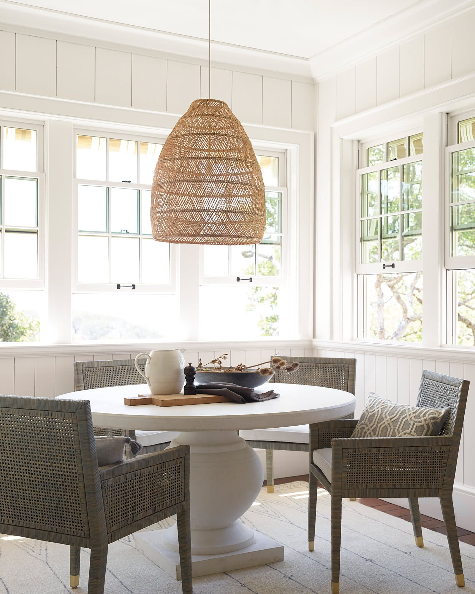 Headlands Bell Pendant Round Dining Table Dining Table Round