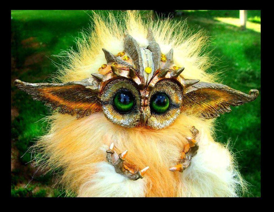 Posable Baby Owlet by *WoodSplitterLee Wood splitter