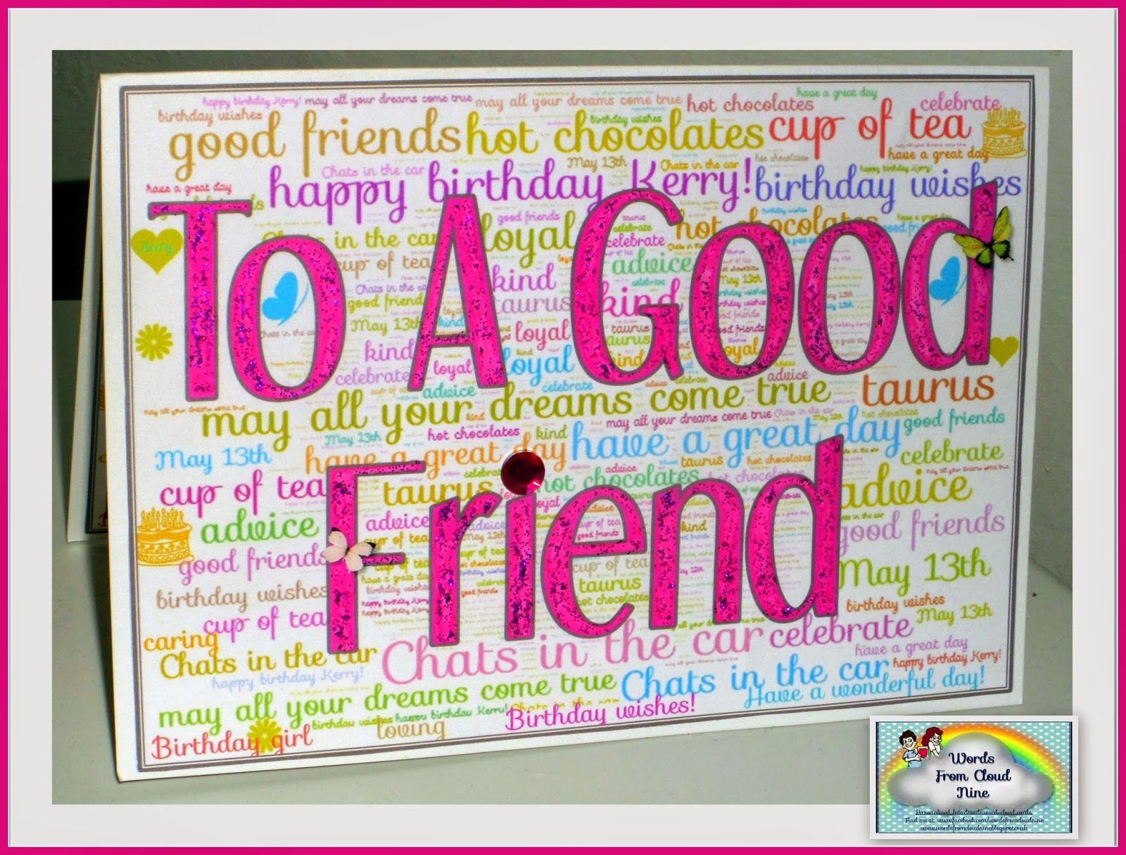 word birthday card