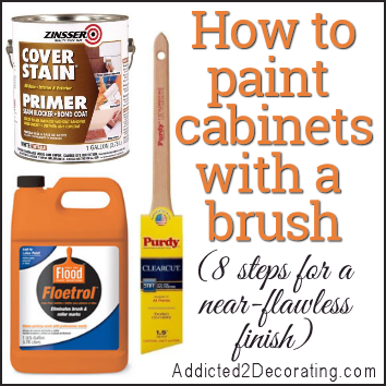 How To Paint Cabinets With A Paint Brush And Get A Near Perfect Finish Paint Furniture Painting Kitchen Cabinets
