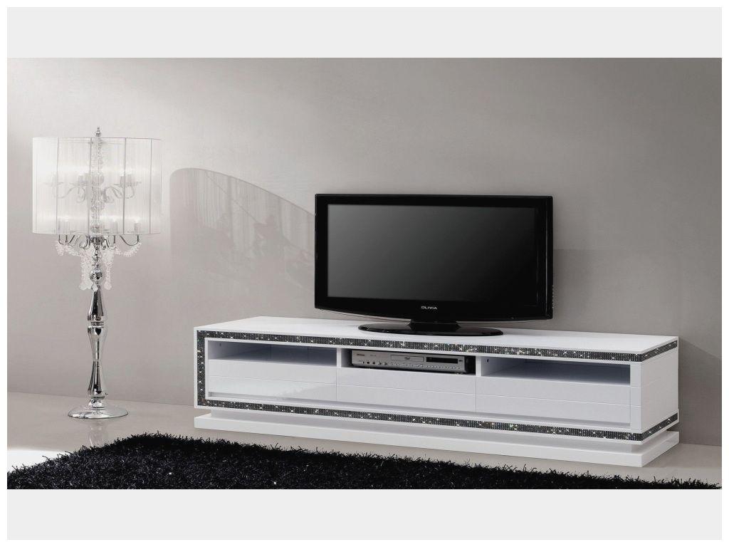 Beau Meuble Tv Design Blanc Laque 170 Cm